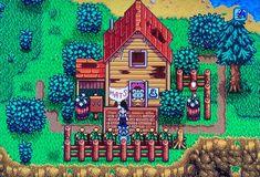 Stardew Farms, Stardew Valley Farms, Pixel Art, Stardew Valley Layout, Stardew Valley Tips, Stardew Valley Fanart, Rpg Map, Farm Layout, Minecraft Houses