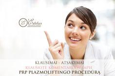 PRP procedūrą gaubia įvairūs MITAI, klauskite komentaruose apie šią procedūrą, o mes Jums atsakysime! http://estetus.lt/prp/
