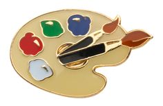 Into art and design? Our #artpallet #pins are so cute & only 65p each.