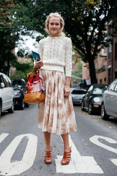 wear cropped with midi skirts For stylecab's top cable knit picks, head to http://stylecab.com/stylescoop/hot-purchase-cable-knits/