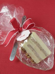 @Eddie Ross Cheese on Crystal Plate with silver knife as food gift Christmas Hostess gift