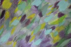 Abstract, dew. Oil on canvas.
