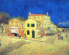 Van Gogh, Vincent - 1888 The Yellow House (Vincent's House in Arles), Rijksmuseum Vincent Van Gogh, Norman Rockwell, Matisse, Van Gogh Arte, Van Gogh Pinturas, Monet, National Gallery, Art Ancien, Art Van