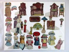 Maple Sisters Doll House Advertising Mapl-Flake Mills circa 10 sheets total, some cut and incomplete. on Apr 2015 Paper Doll House, Paper Dolls, Paper Furniture, Sleeping Beauty Castle, Vintage Antiques, Sisters, Miniatures, Fun, Painting