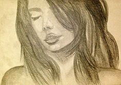 """""""Woman"""" _pencil hand sketch by Clemens Rodney"""