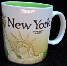 Starbucks New York Coffee Cup Mug 16 ounces Collector Series 2009 Statue Liberty