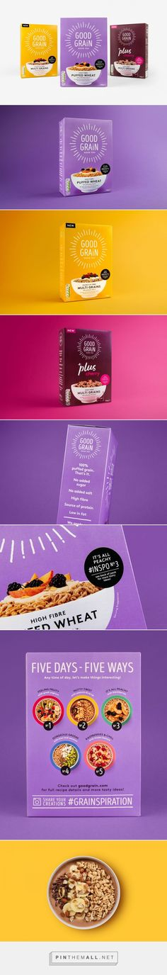 Good Grain Cereal packaging #design by Robot Food - http://www.packagingoftheworld.com/2017/03/good-grain-cereal-rebrand.html