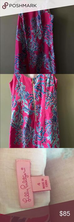 Lilly Pulitzer dress Pink and blue ocean flow Lilly Pulitzer Dresses