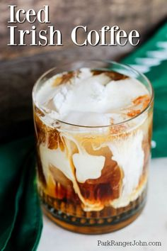 Easy Iced Irish Coffee Recipe that tastes amazing. Great for St. Patricks Day or any day of the week. The perfect combination of coffee and Irish Whiskey. Whiskey And Coffee Recipe, Coffee Drink Recipes, Coffee Cocktails, Easy Cocktails, Irish Whiskey, Cocktail Recipes, How To Make Irish Coffee Recipe, Frozen Irish Coffee Recipe, Classic Cocktails