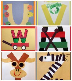 Letter of the Week Crafts for Preschoolers- Going to use some of these with our All About Reading Pre-Reading program.