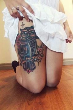 Amazing Owl tattoo love the detail in this one