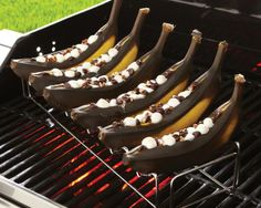 grilled banana boats (The Pampered Chef)