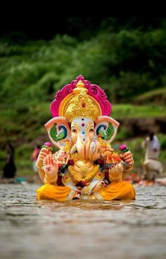 Make this Ganesha Chathurthi 2020 special with rituals and ceremonies. Lord Ganesha is a powerful god that removes Hurdles, grants Wealth, Knowledge & Wisdom. Jai Ganesh, Ganesh Lord, Ganesh Idol, Shree Ganesh, Ganesha Art, Ganesh Chaturthi Decoration, Happy Ganesh Chaturthi Images, Shri Ganesh Images, Ganesha Pictures
