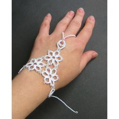 Wedding lace gloves Fingerless tatted gloves Bridal cuff bracelet... (230 PLN) ❤ liked on Polyvore featuring jewelry, bracelets, hinged cuff bracelet, bridal jewelry, bridal jewellery, lace cuff bracelet and cuff bangle