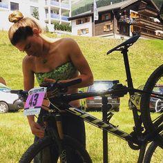 Checkup for my bike before #3 #UCIWorldCup in #Lenzerheide
