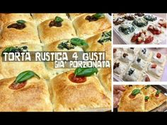TORTA RUSTICA 4 GUSTI già porzionata, ricetta facile e veloce - Tutti aTavola - YouTube