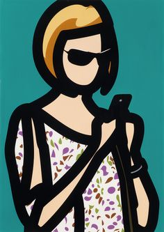 Julian Opie, Tourist with Blouse, screen print