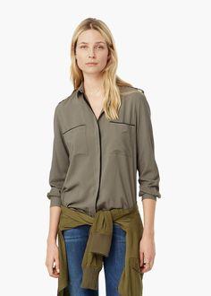 Welt pocket shirt - Shirts for Women | MANGO