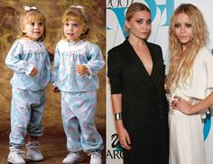 From Full House to Fashion Icons, Mary-Kate and Ashley Olsen are amazing! Celebrities Then And Now, Famous Celebrities, Celebs, Mary Kate Ashley, Mary Kate Olsen, Full House Cast, Famous Twins, Olsen Twins, Stars Then And Now