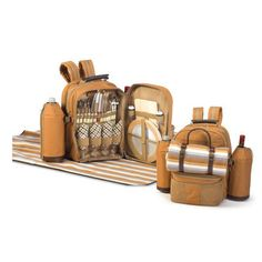 Picnic Plus by Spectrum Tremont 4 Person Picnic Backpack Color: Brown
