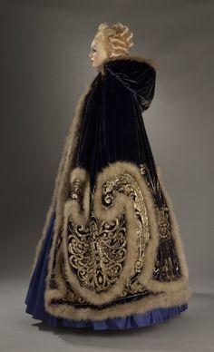 Costume for Ganna Walska as Manon Lescaut in 'Manon', Act III; Woman's Cape and Petticoat. 1920. Erté (Romain de Tirtoff) | LACMA Collections