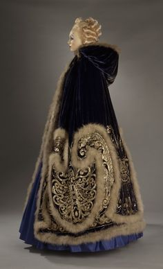 "Costume for Ganna Walska as Manon Lescaut in ""Manon"", Act III. Designed by Erté, made by Redfern, 1920."