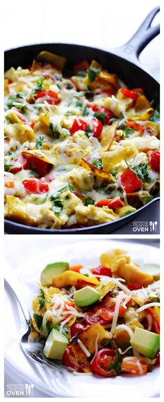 Migas -- have you tried this Tex-Mex favorite?  It's an easy breakfast scramble with criispy corn tortilla chips and cheese.  SO good! gimmesomeoven.com