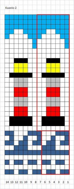 Fair Isle Knitting Patterns, Knitting Charts, Crochet Motif, Knit Crochet, Crochet Patterns, Nautical Socks, Plastic Canvas Crafts, Cross Stitch, Quilts