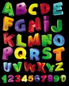 Vector fonts --- Векторни детски букви | Art and Blog