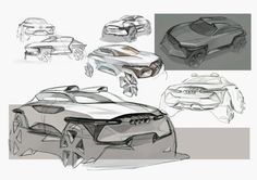Daily Sketch: Audi CUV Concept by HJ Lee gallery: HJ Lee's work: https://www.behance.net/lee8628