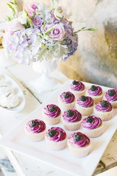 #cupcakes #berries  Photography by gladysjem.com  Design + Planning by charmedeventsplanning.com  Floral Design by poppyspetalworks.com    Read more - http://www.stylemepretty.com/2013/06/11/spring-inspired-love-shoot-from-charmed-events-group-gladys-jem-photography/