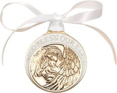 Baby w/Angel Crib Medal