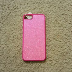 Pink Glitter J. Crew iPhone 5/5s Phone Case Brand new. Perfect condition! Plastic hard shell J.Crew Factory Accessories Phone Cases