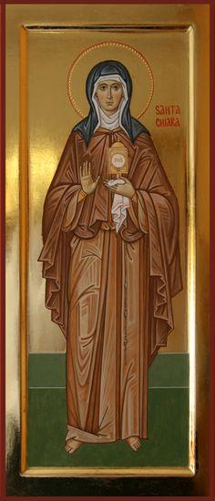 Santa Chiara d'Assisi (2016 cm 49x21) per mano di Giuliano Melzi