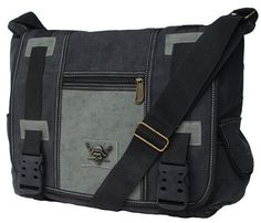Military Inspired Canvas Messenger Shoul...