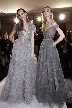 "voguetherapy: ""Elie Saab SS15 Couture Backstage "" Elie Saab Couture, Couture Mode, Couture Fashion, Couture 2015, Gala Dresses, Couture Dresses, Wedding Dresses, Robes Glamour, Elie Saab Spring"