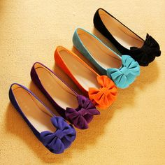 Fall New Bowknot Round Head Flat Shoes for Women big size available