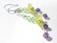 Novalee ~ Spring Time ~ light green lucite flowers by gingerrosemary