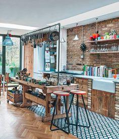 Wood & beautiful tiles