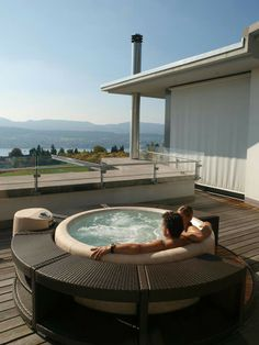 Hot tub roof terrace installation