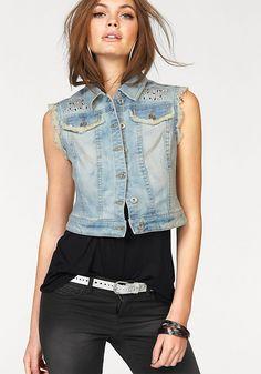 nice Стильная джинсовая жилетка своими руками (50 фото) — Выкройки, мастер-класс