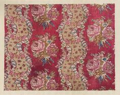 Printed linen. France, 18th Century. Linen and cotton weft. From the MFA Boston: 35.1643