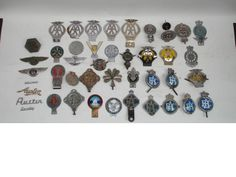 A collection of RAC and AA badges