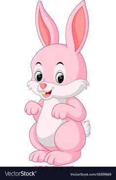 Cute rabbit cartoon vector image on VectorStock