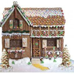 Snyders Pretzel Gingerbread House - love the door!