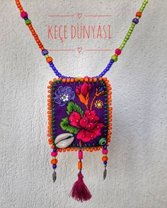 I to # Karşıyaka # Eskişehir Please dm to order. Long Tassel Earrings, Beaded Tassel Necklace, Purple Earrings, Cheap Jewelry, Diy Jewelry, Jewelery, Textile Jewelry, Fabric Jewelry, Bijoux Diy