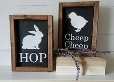 Easter Signs Spring Decor Easter Decor by TheMtnBluebirdCo
