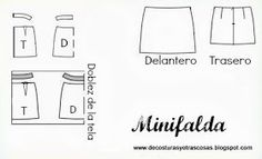 patrón-minifalda Sewing Patterns Free, Free Sewing, Diy, Style, Random, Skirts, Outfits, Dresses, Faeries