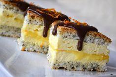 Prăjitură cu mac, brânză dulce și portocale – Dulcinele Romanian Desserts, Top 5, Sweet Treats, Cheesecake, Deserts, Dessert Recipes, Yummy Food, Cooking, Healthy