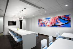 SSDG Interiors developed a new office space in Vancouver, British Columbia for global commercial real estate firm Colliers International. Commercial Interior Design, Commercial Interiors, Vancouver, Office Interiors, Interior Office, Lunch Room, Office Environment, Commercial Real Estate, Workplace